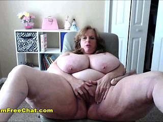 Granny with Humongous Tits Hottest Mature Feeling Horny