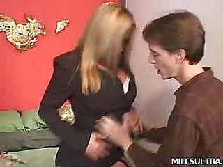 Office MILF Stripping