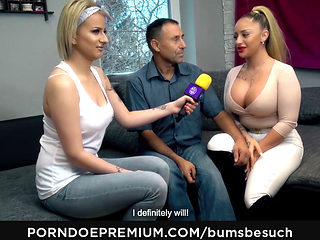 Bums Besuch - Busty German Porn Star Dana Jayn Sucks Cock And Fucks Mature Amateur Fanboy