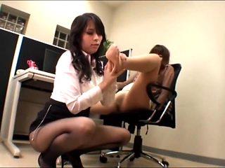 Asian office pantyhose fetish