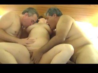 Mature trio hotpeg