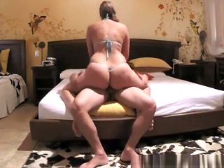 Big ass woman rides her man's dick