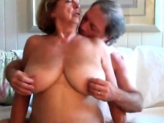 Old man fucks old granny 039 s big boobs