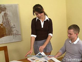 Curvy Elena loves studying but she loves the thick dicks more!