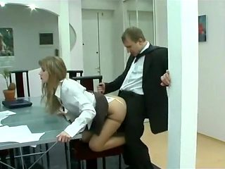 Exotic Secretary, Blonde sex scene