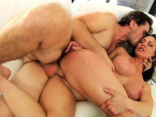 Big boobs blonde milf anal creampie