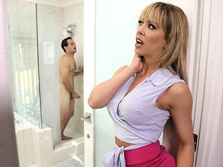 Cherie Deville & Tyler Nixon in Sneaking Around With Her BFFs Son - BrazzersNetwork