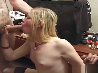 Trailer park amateur sucking cocks and bukkake