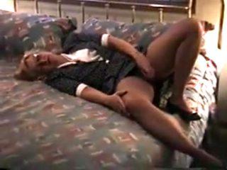 Exotic homemade Secretary, Masturbation adult clip