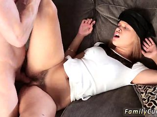 Family strokes step dad and companion's daughter casting