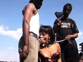 Exotic african sex slave gets taken and used for what she