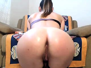 Solo Blonde Takes Huge Dildo Deep In Her Ass