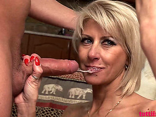 Blonde Milf Katie Fucked And Facialized