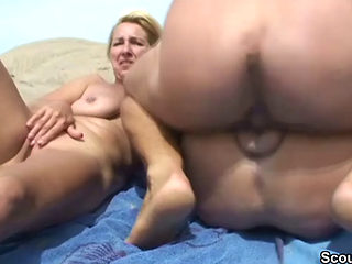 2 Milfs Fucking At The Beach