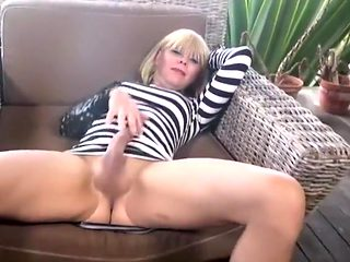 Exotic amateur shemale movie with Masturbation, Blonde scenes