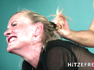 Hitzefrei Blonde German Milf Fucks A Younger Man