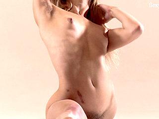Hairy Teen Mochalkina Shows Outstanding Flexibility