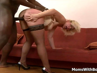 Blonde Granny Lilli Gets Anal Fucked By BBC