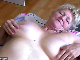OldNannY Busty BBW Ladies Enjoying With Strapon