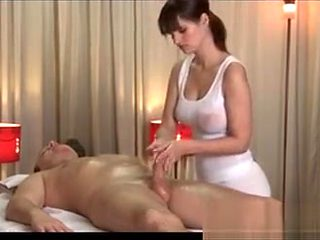 Busty Brunette Babe From Massageroom