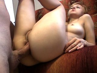Freaky young babe Elya gets fucked in ass after she sucked that big dick