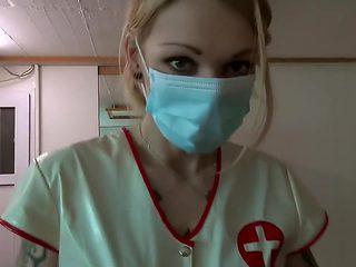 Nurse Dildo Treatment and anal Fisting