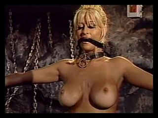 Beauty abused in the dungeon as her friends watch