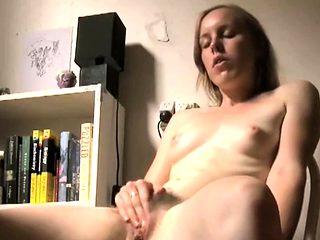 my sister masturbates at dining table