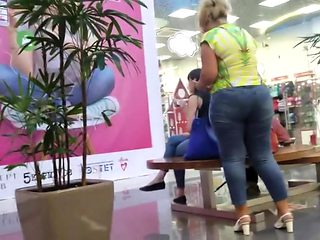 Mature blonde with big tight ass