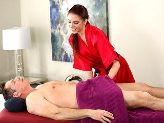 John Strong enjoys stress relief massage