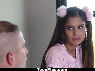 Teenpies- Cute Teen Gets Surprise Creampie