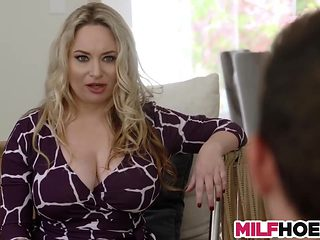 Big Tits Stepmother Shows Them Everything