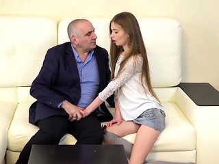 Elegant schoolgirl was teased and plowed by aged teacher75XI