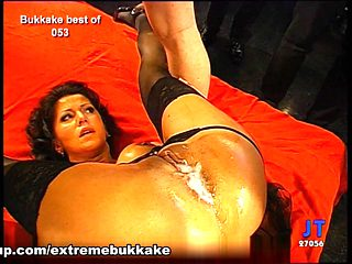 Amazing pornstar in Hottest Bukkake, Stockings xxx movie