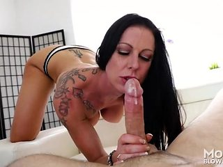 Naughty tattoos on a lovely cocksucking slut