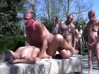 group fucked by old men