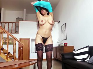 POV Sex and Handjob with Lucia Busty Latina Stripper