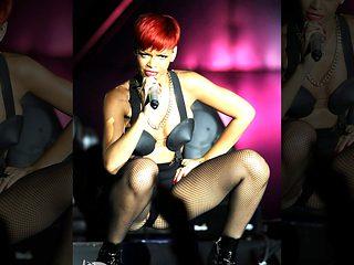 Rihanna Hot Pussy Lip Slip On Stage