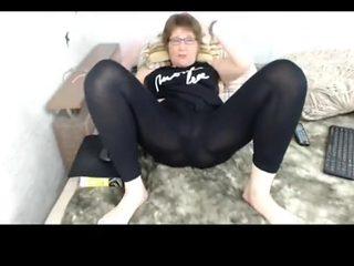 My favorite mature lady in leggings