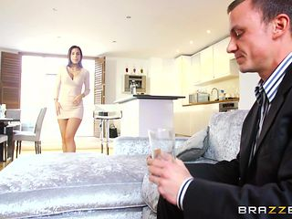 sexy wife sucks the guest's cock
