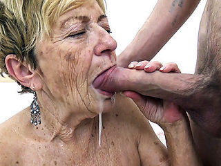 hairy 90 years old granny banged by her toyboy