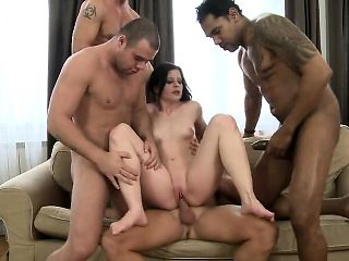 Group sex and a double penetration