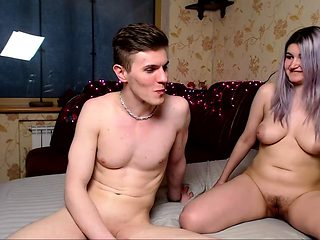 Hot couple fuck doggystyle on webcam