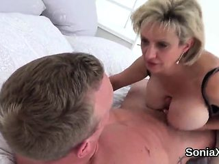 Adulterous british milf lady sonia shows off her large hoote
