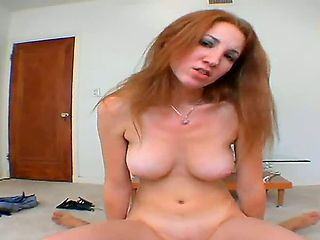 Cock hungry steaming hot beautiful redhead babe Stefanie Renee with huge stunning boobs and tight...