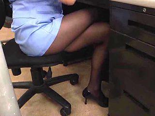 Japanese Office lesbo