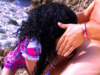 Defiling A Pretty Latina Schoolgirl At The Beach