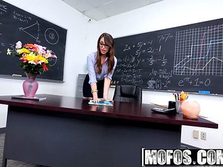 Mofos - Mofos B Sides - Christiana Cinn - Anal Lesson From Tutor In Stockings