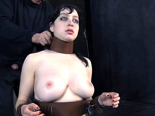Girl in latex costume gets wild pussy and anal prodding