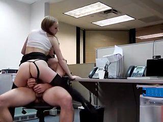 Secretary Ava Hardy Lets Boss Destroy Her Pussy